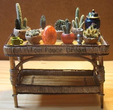 Feuilleton2 antiquit s brocante miniatures au 1 12 me for Set de table en osier
