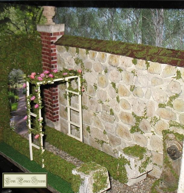 Un jardin en miniature for Mur de galets jardin